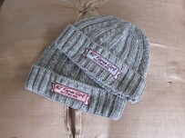 NZFG Grey Cable Knit Beanie